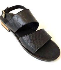 sandalia negra orcú calzado ana