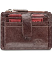 mancini equestrian2 collection rfid secure card case and coin pocket