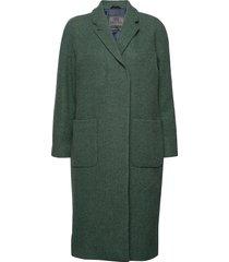 deb wollen jas lange jas groen brixtol textiles
