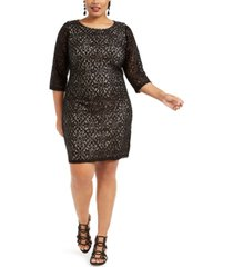 jessica howard plus size disco dot lace dress
