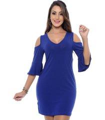vestido b'bonnie curto marisa azul royal