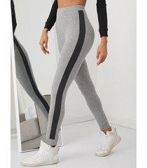 leggings de cintura alta con cinta lateral yoins