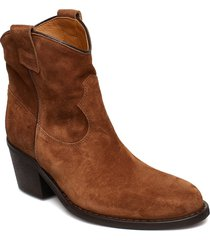 anna shoes boots ankle boots ankle boot - heel brun notabene