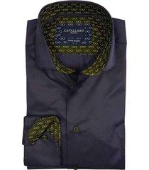 cavallaro overhemd donkerblauw