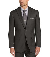 calvin klein men's brown tic slim fit suit - size: 54 regular