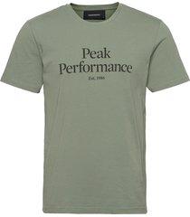 m original tee the alpine t-shirts short-sleeved grön peak performance