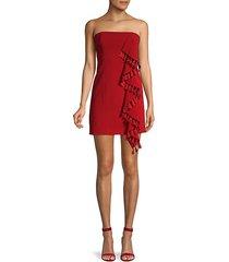 nat tassel-trimmed strapless dress