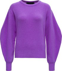 federica tosi purple wool and cashmere sweater