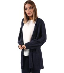 womens cable knit open cardigan