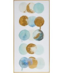"""urban habitat crowned motions crystal glass coat with foil framed canvas, 15.39"""" x 30.29"""""""