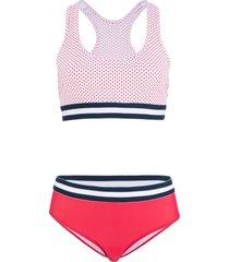 bikini a bustier (set 2 pezzi) (rosso) - bpc bonprix collection