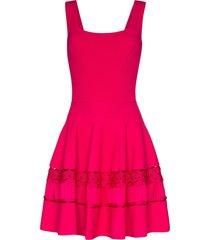 alexander mcqueen crochet-knit dress - pink