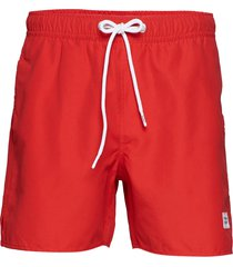 breeze long swim shorts badshorts röd frank dandy