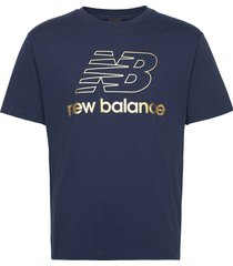 nb athletics podium tee t-shirts short-sleeved blå new balance