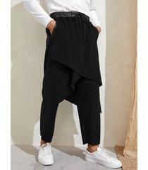hombres japón kimono estilo streetwear hip hop harem pantalones