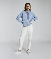 reiss julietta - loungewear funnel neck sweatshirt in blue, womens, size l