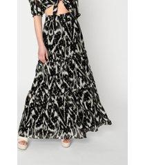 nicole miller women's ikat lurex maxi skirt