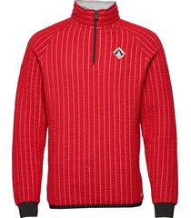 regular fit half-zip sweat in special 3d quilting sweat-shirt trui rood scotch & soda