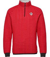 regular fit half-zip sweat in special 3d quilting sweat-shirt trui rood scotch & soda