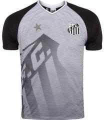 camiseta do santos shield - masculina - preto