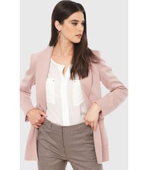 blazer ash rosa - calce regular