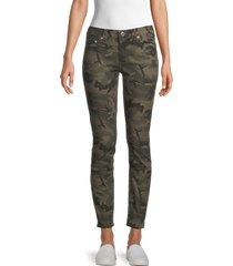 true religion women's halle camo skinny jeans - olive camo - size 25 (2)