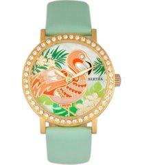 bertha quartz luna collection mint leather watch 35mm