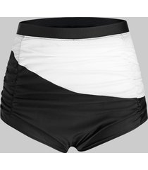 plus size two tone colorblock swim shorts