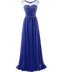 blevla cap sleeve sequins lace appliqued long evening dress formal prom gowns...
