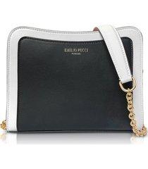 emilio pucci designer handbags, tri-color leather shoulder bag