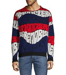 graphic wool & cashmere sweatshirt