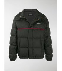 versace greca argyle accent padded jacket