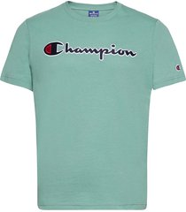 crewneck t-shirt t-shirts short-sleeved blå champion