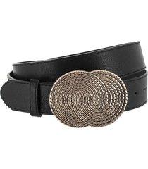 cinturón negro bohemia hebilla medalla