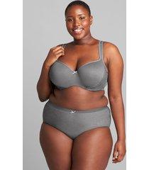 lane bryant women's no-show full brief panty 34/36 summer grey