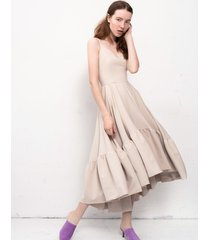 sukienka norma beżowa