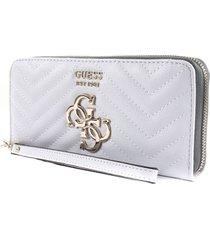 billetera violet slg large zip around vg729446 para mujer guess - blanco con envio gratis