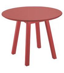mesa lateral oval alta vermelho tramontina