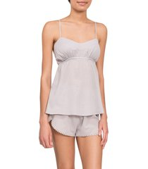 everyday ritual lily daisy camisole short pajamas, size x-small in mist at nordstrom