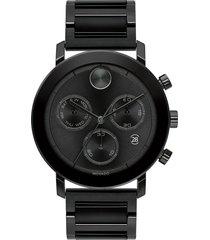 movado bold evolution chronograph bracelet watch, 42mm in black at nordstrom