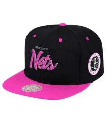 mitchell & ness brooklyn nets sweetheart script snapback cap