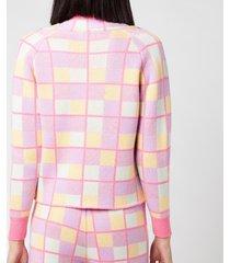 olivia rubin women's tally cardigan - battenberg - l
