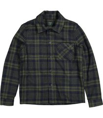 butcher of blue overhemd m2124043 army check