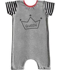 pijama curto comfy  queen cinza