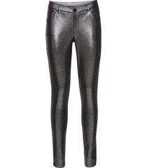 pantaloni in jersey metallizzato (argento) - bodyflirt