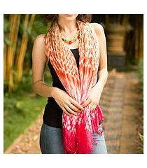 tie-dyed scarf, 'fabulous peach' (thailand)