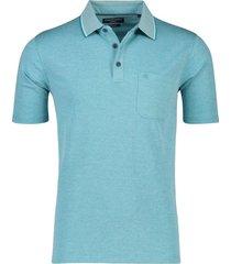 casa moda poloshirt korte mouw borstzak turquoise