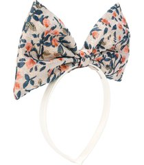 hucklebones london oversized bow floral embroidered headband -