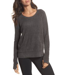 women's barefoot dreams cozychic lite pullover, size x-large - grey
