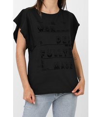 camiseta dimy lettering preta - kanui
